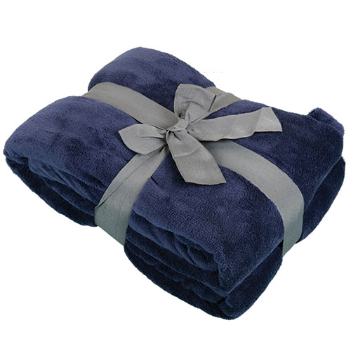 Northpoint Trading Dark Blue Plush Blanket