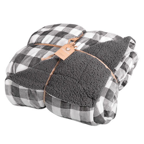Northpoint Grey Buffalo Plaid Blanket