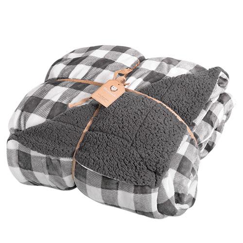 Northpoint Grey Buffalo Plaid Blanket