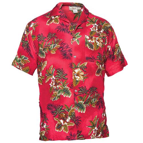 Mens Red Tropical Shirt