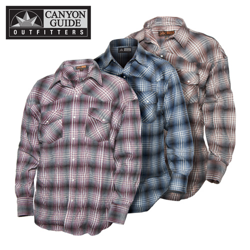 Western Flannel Shirts - 3 Pack