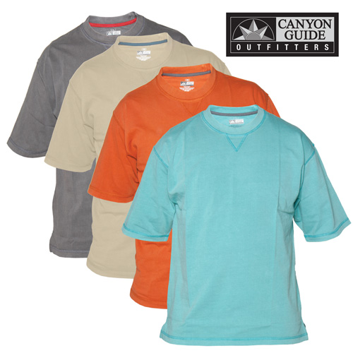 Crew Neck Short Sleeve Shirts - 4 Pack