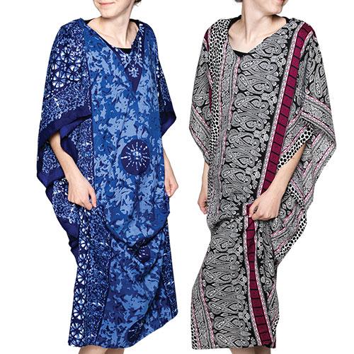 Women's Kimono Style Caftans - 2 Pack