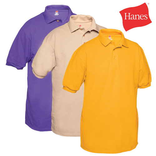 Hanes Polo Shirts - 3 Pack