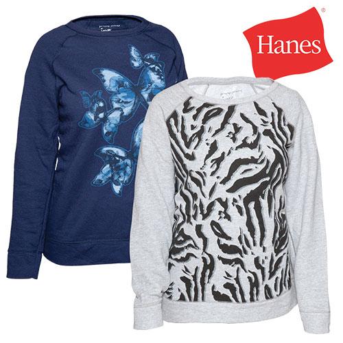 Hanes Womens Print Sweatshirts - 2 Pack