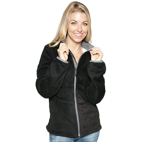 Micro Chenille Jacket - Black