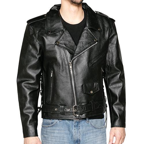 Classic Belted Biker Jacket