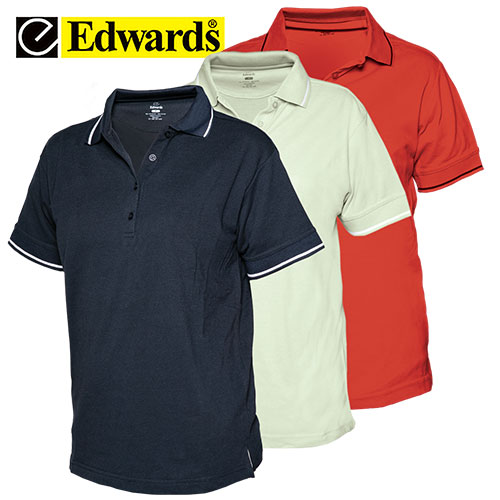 Edwards Ladies Tipped Collar Polo Shirts