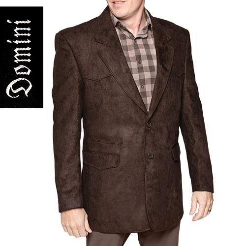 Domini Men's Brown Western Microsuede Blazer