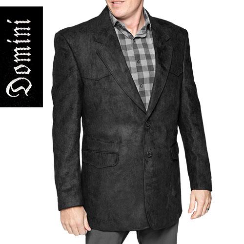Domini Men's Black Western Microsuede Blazer