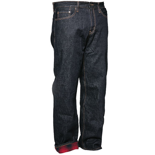 Men's Flannel Lined Straight Leg Jeans