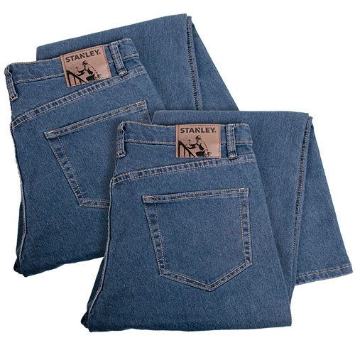 Stanley Men's Work Jeans - 2 Pair
