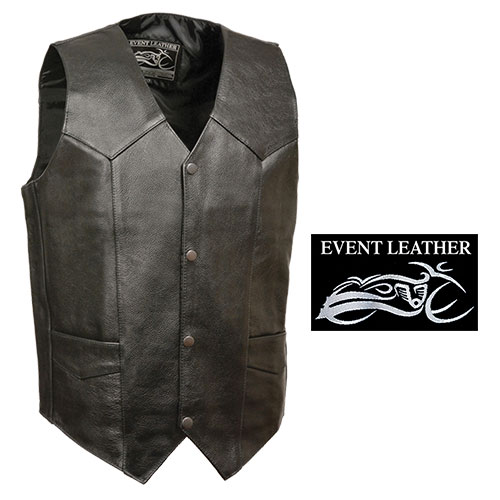 Milwaukee Leather Men's Black Classic Leather Vest