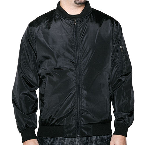 Truppa Men's Black Bomber Jacket