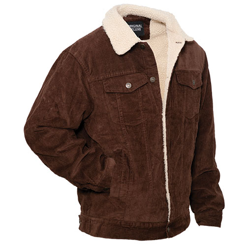 Original Deluxe Men's Coffee Sherpa Corduroy Jacket