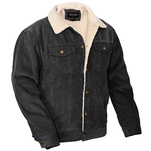 Original Deluxe Men's Black Corduroy Jacket