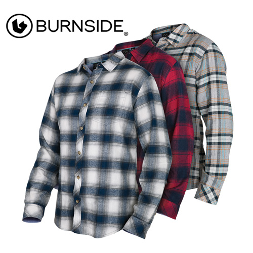Burnside Men's Chambray Flannels - 3 Pack