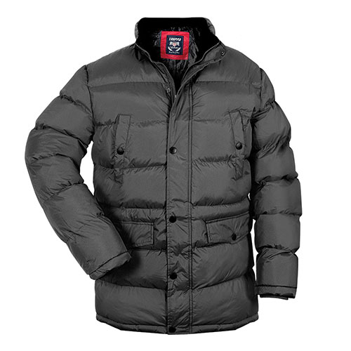 Truppa Men's Black Hooded Parka Coat