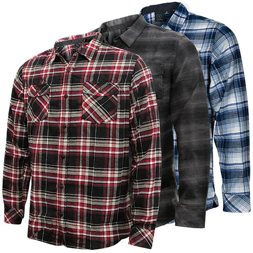 Burnside Men's Flannel Shirts - 3 Pack