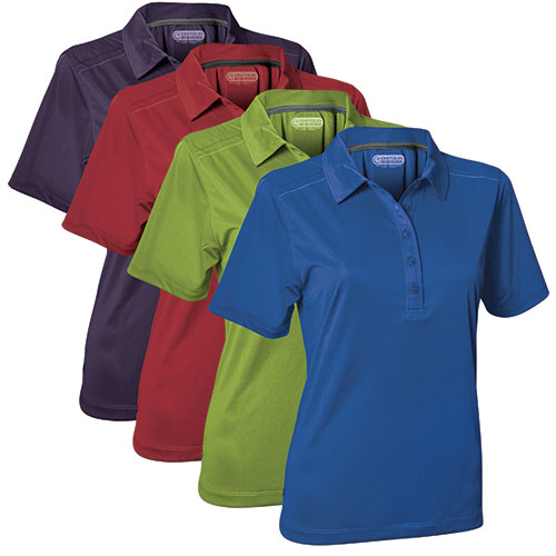On Tour Women's Contrast Polo Shirts
