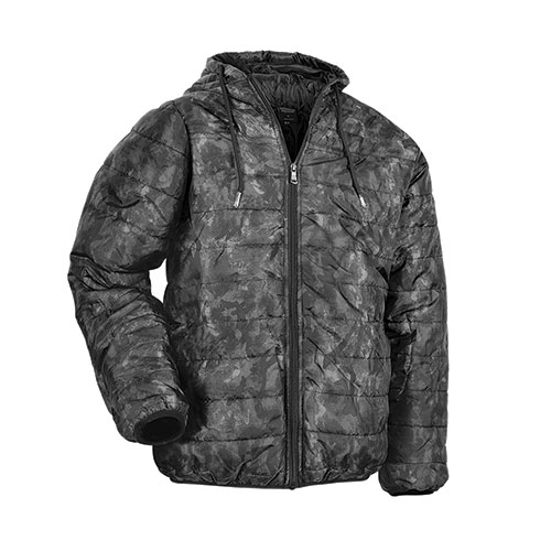 Truppa Men's Grey Camo Lightweight Puffer Jacket