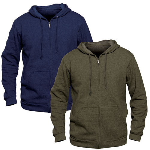 Independent Trading Co Men's Navy Lightweight Zip Hoodies