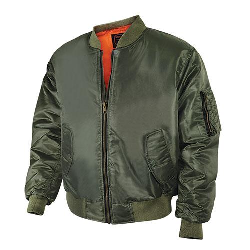 Bravo Men's Olive Flight Jacket