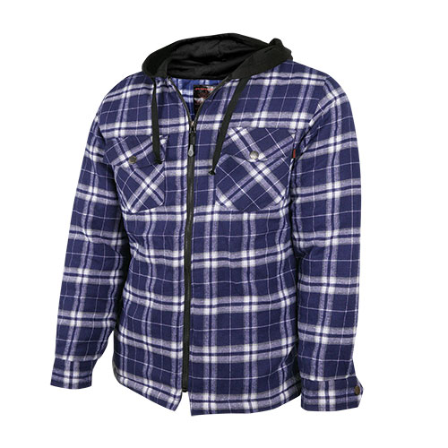 Men's Quilted Flannel with Hood