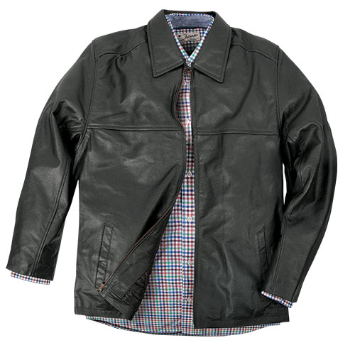 Men's Burk's Bay Textured Driving Jacket - Black