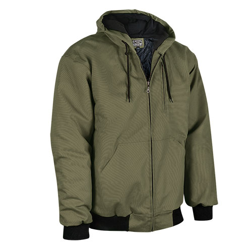 Men's Casual Country Duck Work Jacket - Olive