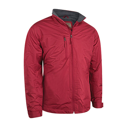 Cold Storage Men's Fleece Lined Drop Tail Jacket - Red
