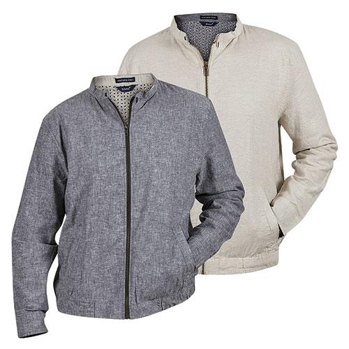 Bruno Men's Gray & Oatmeal Linen Jackets