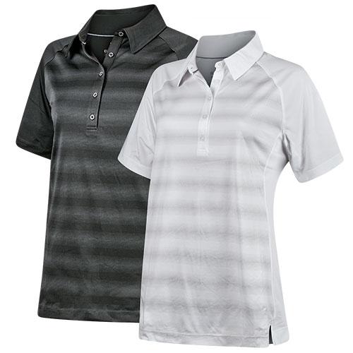 Elevate Women's Black & White Polo Shirts