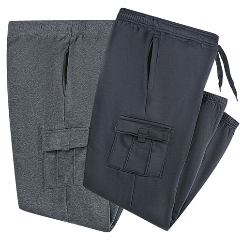 Fourcast Men's Navy & Charcoal Cargo Pants