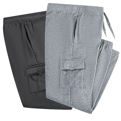 Fourcast Men's Black & Grey Cargo Pants