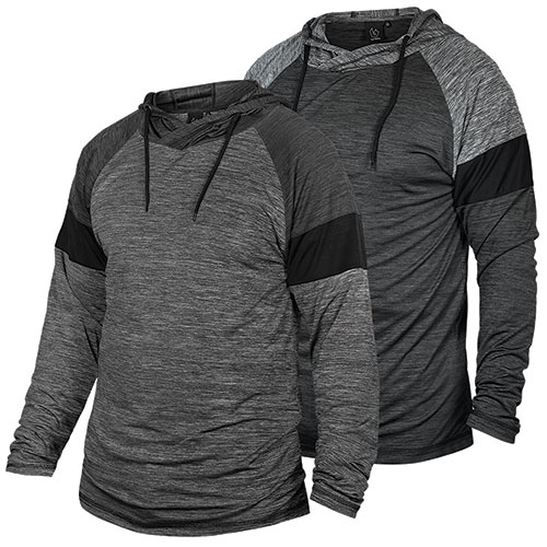 Burnside Men's Grey/Charcoal Hoody - 2 Pack