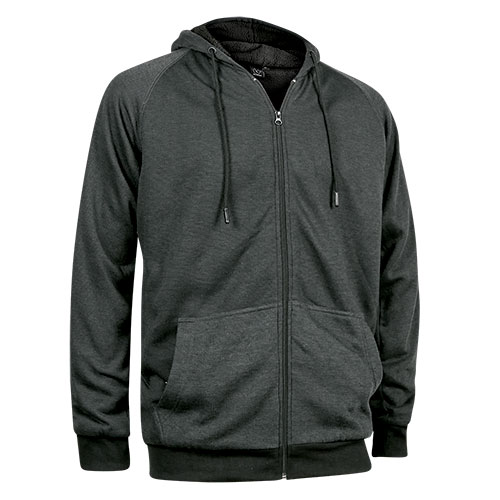 Burnside Men's Charcoal Sherpa Hoody