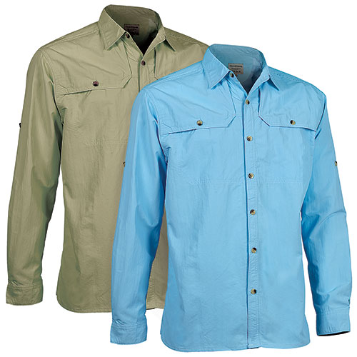Outrageous Inc Men's Blue & Moss Fishing Shirts - 2 Pack