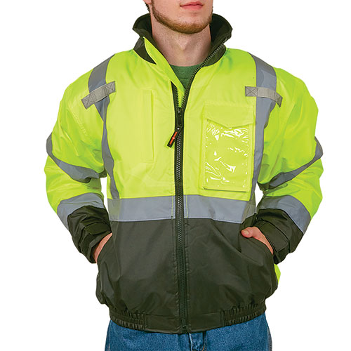 Work Ready Hi-Viz Yellow Bomber Jacket