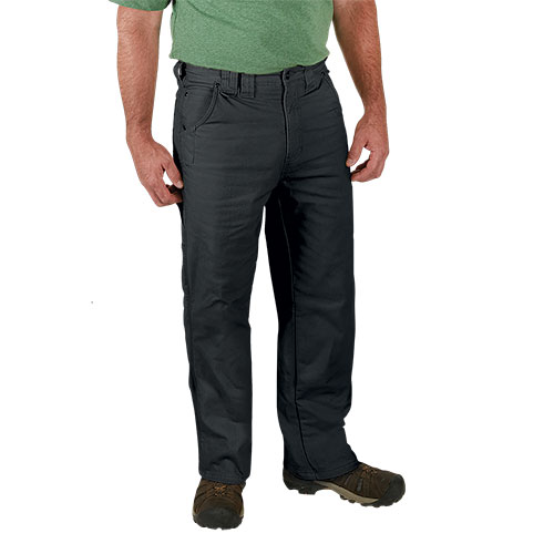 Work Ready Fleece-Lined Charcoal Canvas Pants