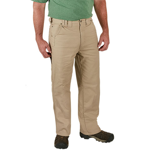 Work Ready Fleece-Lined Khaki Canvas Pants