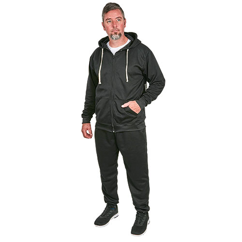 Rudolph Men's Black Jogger and Hoody Set