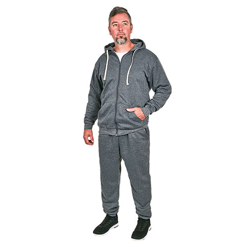 Rudolph Men's Grey Jogger and Hoody Set