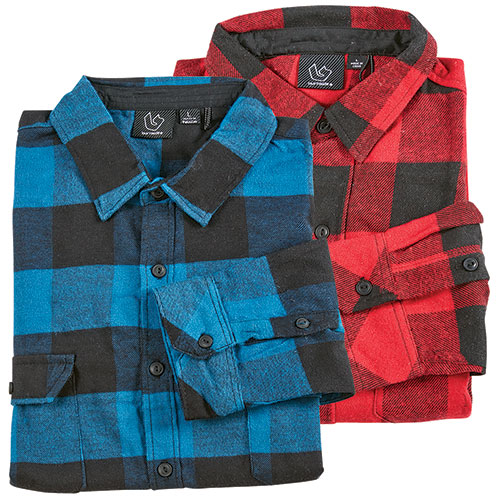 Burnside Brawny Men's Flannel Shirt - 2 Pack