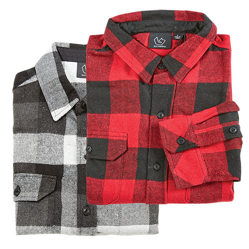 Burnside Brawny Flannel Shirt - 2 Pack