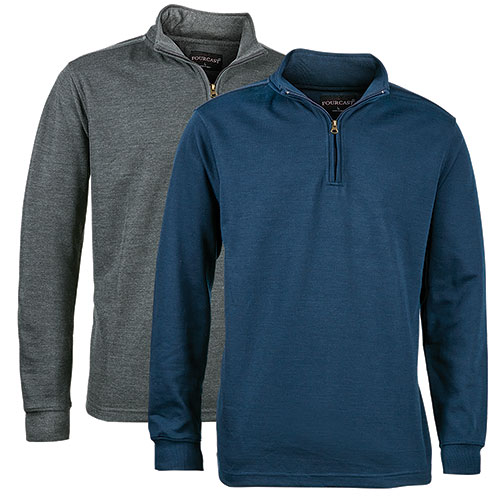 Fourcast Men's 1/4 Zip Sweater - 2 Pack