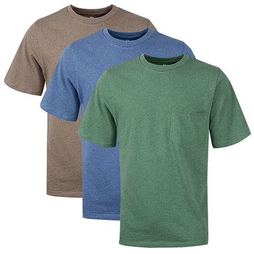 Classic Pocket Men's Cotton T-Shirts - 3 Pack