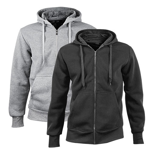 North Pole Full-Zip Black/Heather Hoodies - 2 Pack