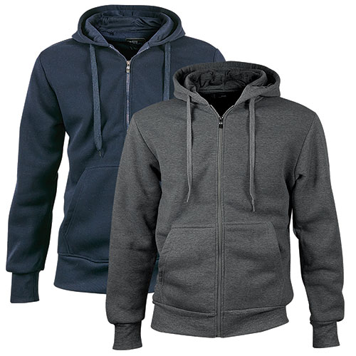 North Pole Full-Zip Charcoal/Navy Hoodies - 2 Pack
