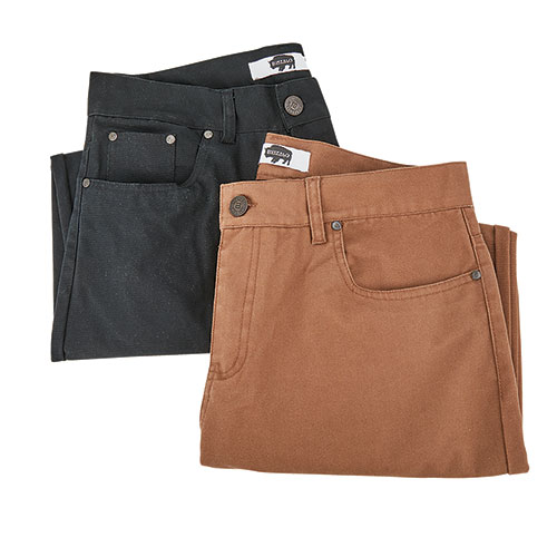 Buffalo Canvas Men's Work Pants - 2 Pack